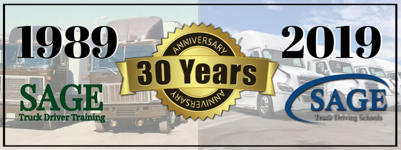 SAGE Truck Driving Schools Mark 30th Anniversary
